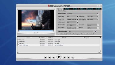 Aplus Video to iPod PSP 3GP Converter 7.003 screenshot