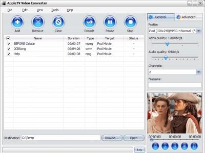 Apple TV Video Converter 3.1.44.110 screenshot