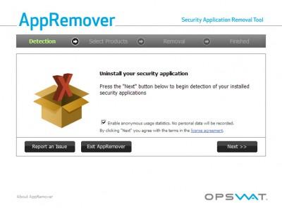 AppRemover 3.1.22.1 screenshot