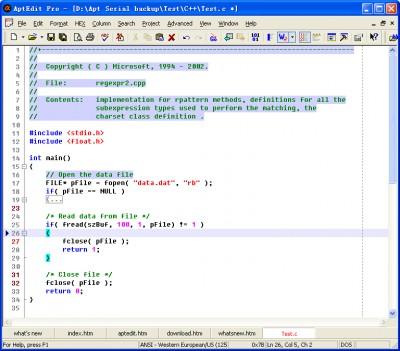 AptEdit 5.6.2 screenshot