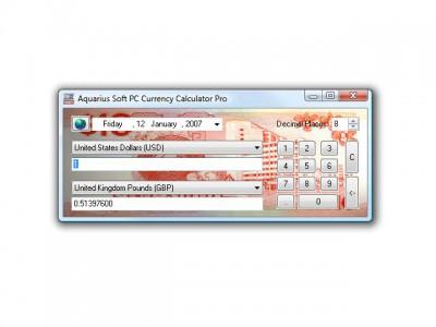 Aquarius Soft PC Currency Calculator Pro 2.8c screenshot