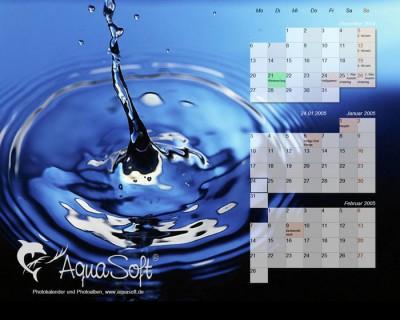 AquaSoft DesktopKalender Aqua-Edition 1.0.00 screenshot