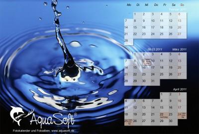 AquaSoft DesktopKalender Tropfen 3.6.02 screenshot