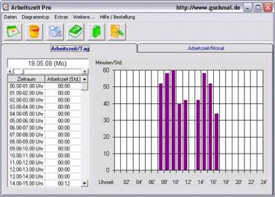 Arbeitszeit Pro 2.01 screenshot