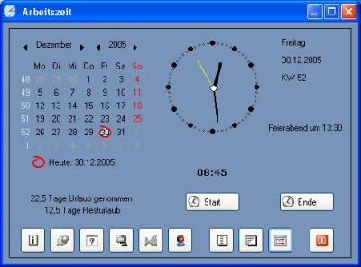 Arbeitszeit 1.0 screenshot