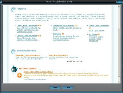 Arcade Force Game Directory Browser 1.0 screenshot