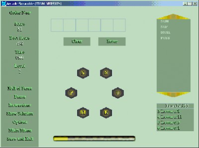Arcade Scramble 1.0 screenshot