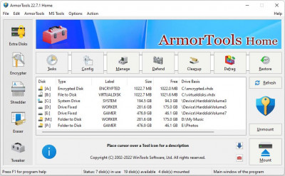 Armor Tools 7.3 screenshot
