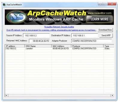 ArpCacheWatch 1.6.6 screenshot