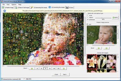 Artensoft Photo Mosaic Wizard 1.6 screenshot