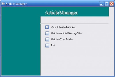 Article Manager 1.0 screenshot