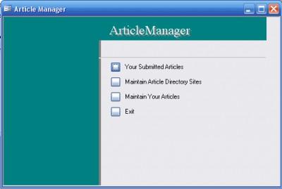 Article Manager 1.0 screenshot