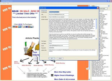 Article Planter 1.0.1 screenshot