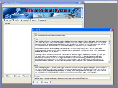 Article Submit System 2.0 screenshot