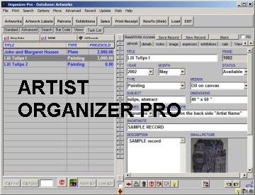 Artist Organizer Pro 3.2b screenshot
