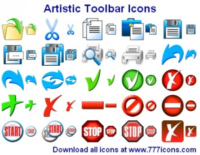 Artistic Toolbar Icons 2015.1 screenshot