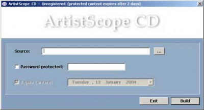 ArtistScope CD Protection 2.0 screenshot