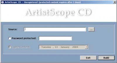 ArtistScope CD Protection 2.0 screenshot