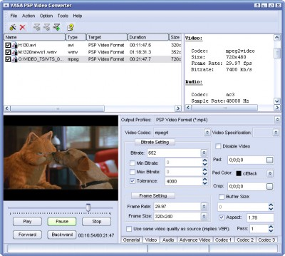 Asaya PSP Video Converter 9.2.4.0199 screenshot