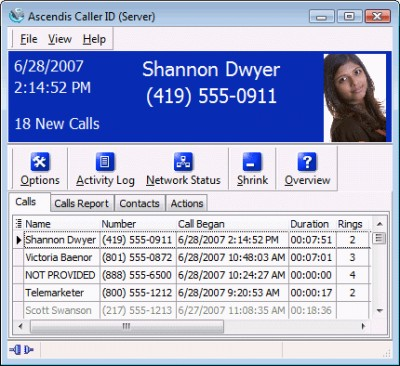 Ascendis Caller ID 3.1.0.0 screenshot