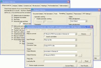 AscToRTF 2.0 screenshot
