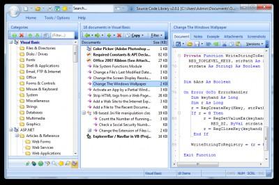 ASP Code Library 2.1.0.212 screenshot