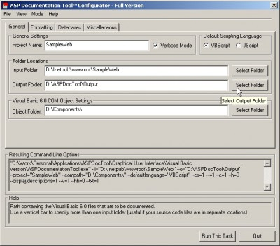 ASP Documentation Tool 8.2.8 screenshot