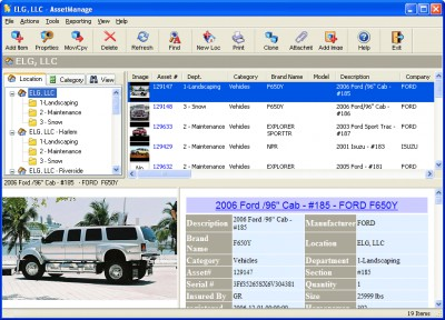 AssetManage Enterprise Asset Software 2010 screenshot