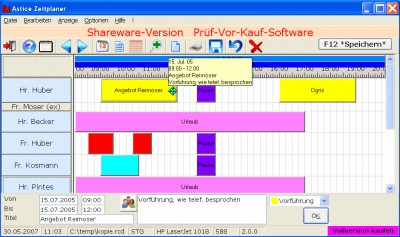 Astice Zeitplaner 2.8.28 screenshot