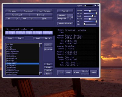 Atmosphere Deluxe( PC Nature Sounds Generator) 7.0 screenshot