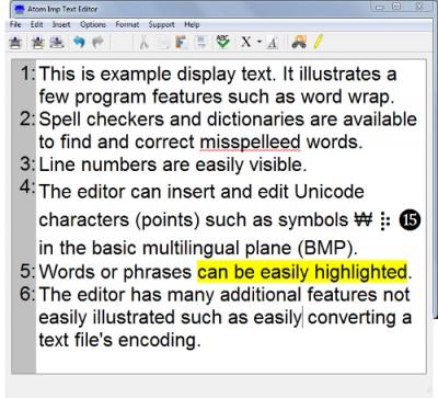 Atom Imp Text Editor 1.01 screenshot