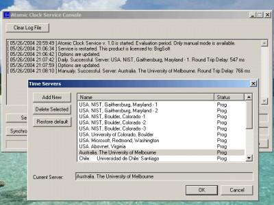 Atomic Clock Service 2.6 screenshot