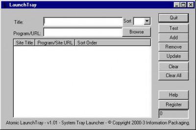 Atomic Launch Tray 1.01 screenshot