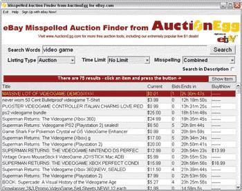 Auction Misspeller Software 1.02 screenshot