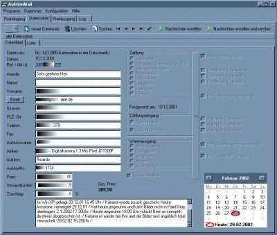AuctionMail 2.2 screenshot