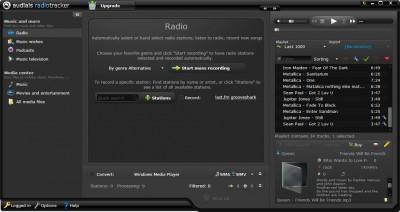 Audials Radiotracker 2017 screenshot