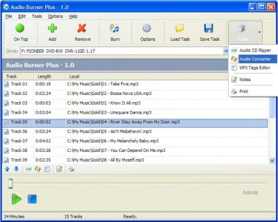 Audio Burner Plus 2.0 screenshot