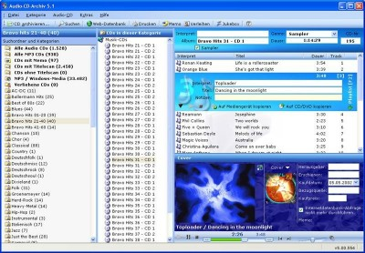 Audio-CD-Archiv 5.0 Edition 2006 5.00.566 screenshot