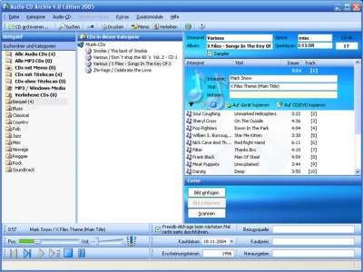 Audio-CD-Archiv Edition 2005 4.00.531 screenshot
