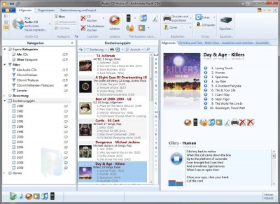 Audio-CD-Archiv v7 7.10.727 screenshot