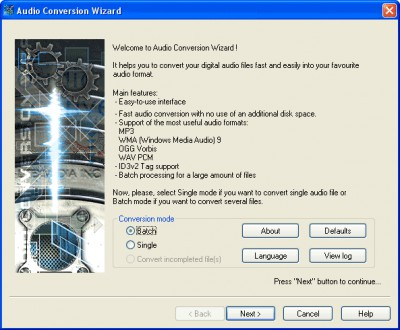 Audio Conversion Wizard 2.0 screenshot