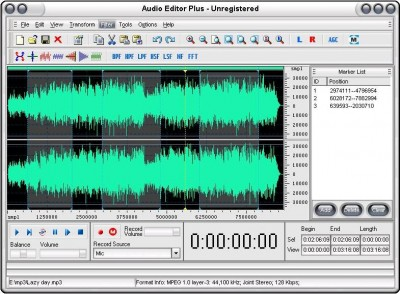 Audio Editor Plus 3.1 screenshot
