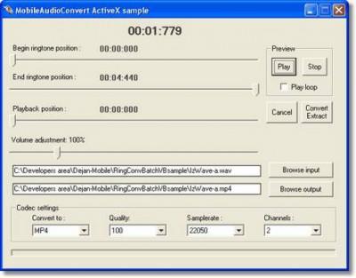 Audio File Convert ActiveX 1.0 screenshot