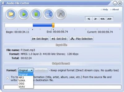 Audio File Cutter 7.0 screenshot
