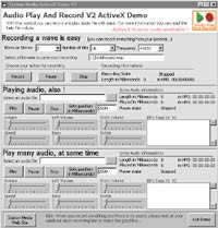 Audio Play And Record OCX 2.13 screenshot