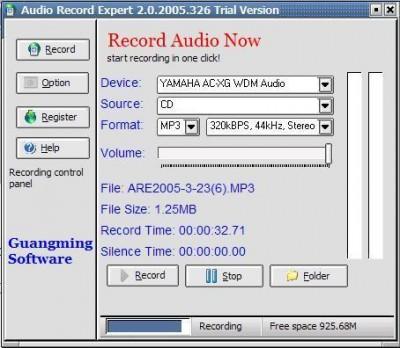 Audio Record Expert 2.0.2015.4 screenshot