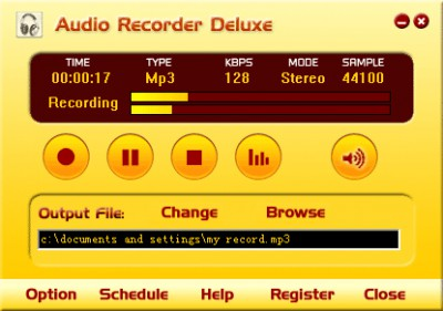 Audio Recorder Deluxe 2.2 screenshot