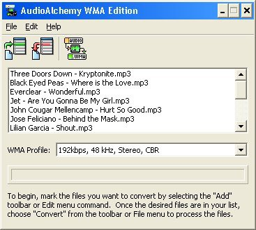 AudioAlchemy WMA Edition 2.3 screenshot