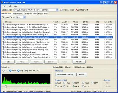 AudioConvert 3.1 screenshot