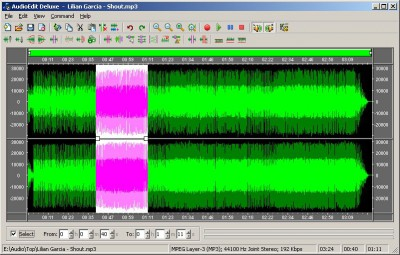 AudioEdit Deluxe 5.01 screenshot
